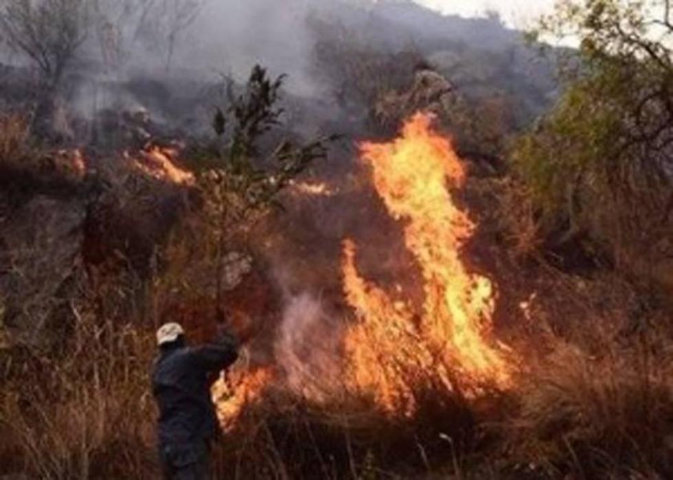 El fuego avanza incontrolablemente.
