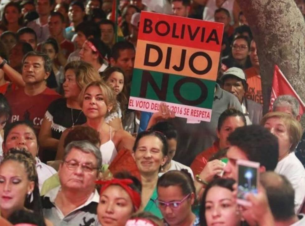 La mayoria de los bolivianos dijo No o la reelección de Evo en 2016.