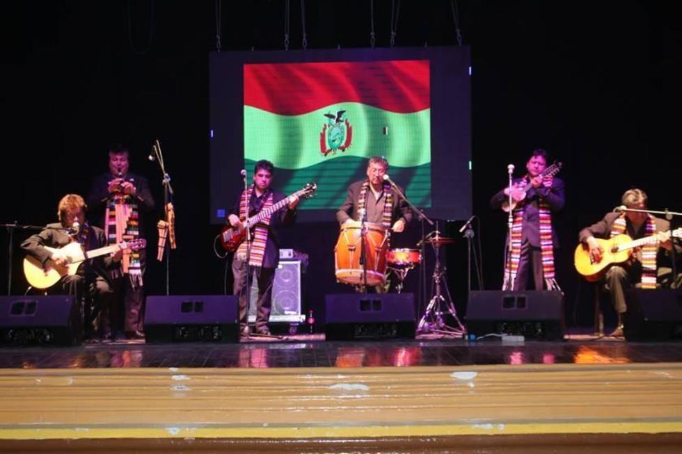 La presentación del grupo en el concierto de anoche.