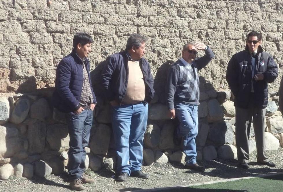 Los dirigentes del conjunto potosino en uno de los entrenamientos.