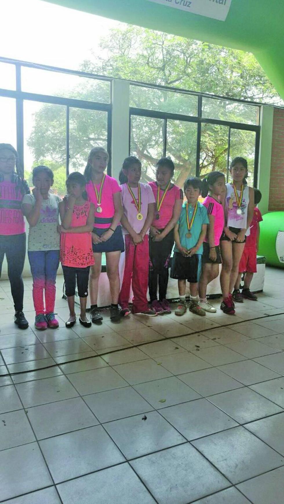 La selección potosina que obtuvo medallas en Santa Cruz.
