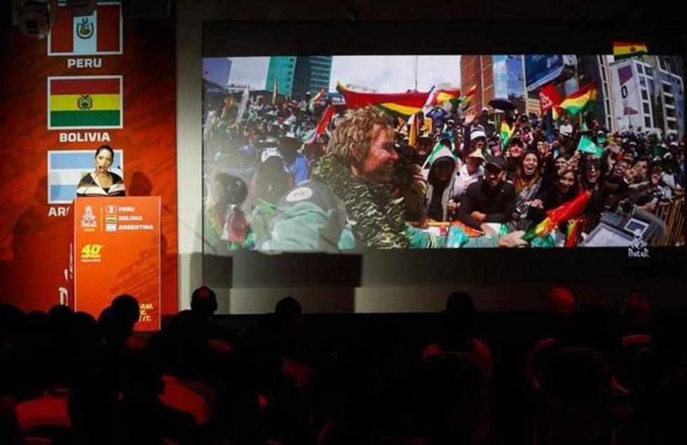 La ministra de Culturas y Turismo de Bolivia, Wilma Alanoca Mamani, durante la presentación.
