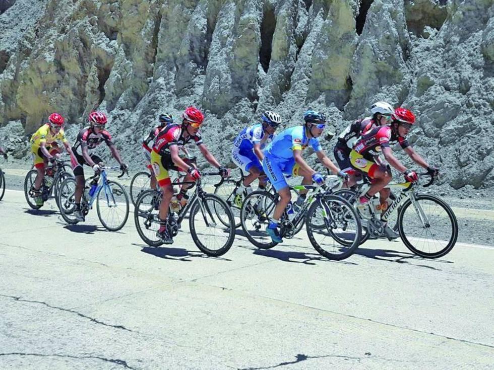Los pedalistas durante la segunda etapa de competencia.