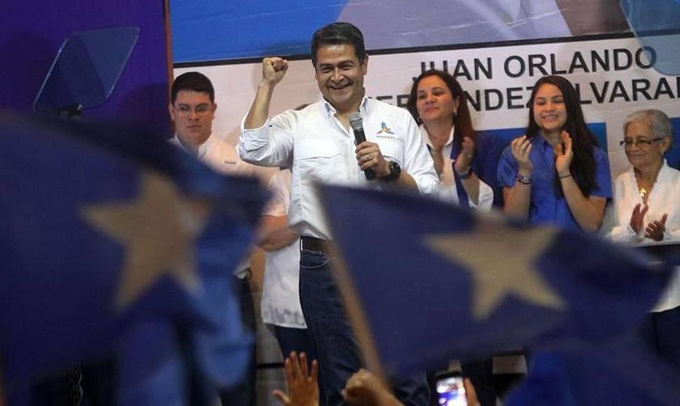 El presidente de Honduras se declara ganador de la elección