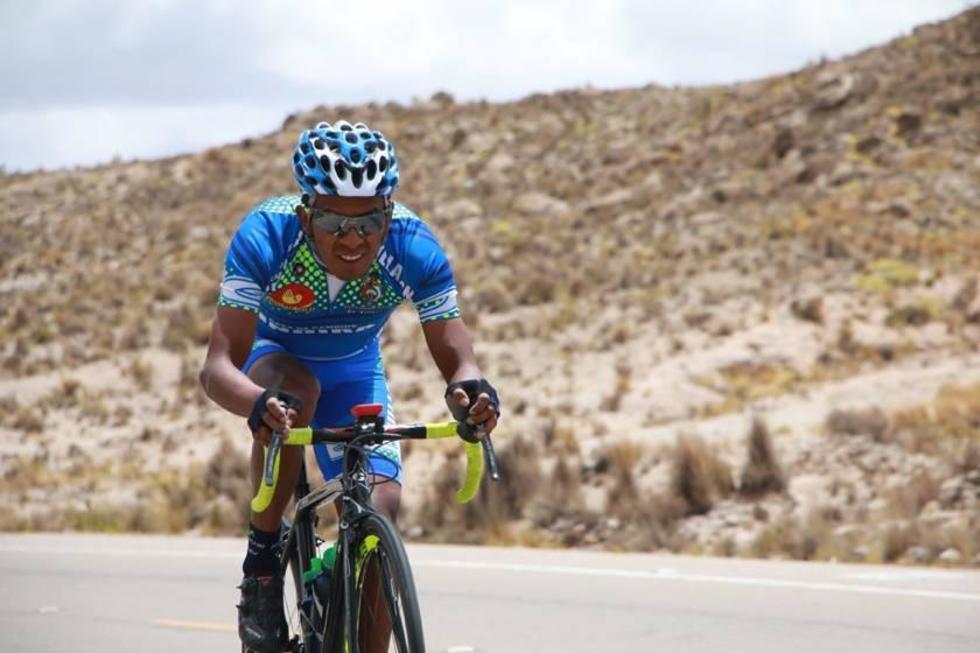 El ciclista boliviano, del equipo Movistar.