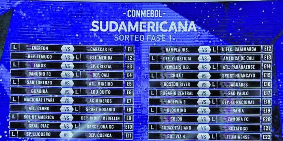 Fotografía de la serie de partidos de la primera fase de la Copa Sudamericana.