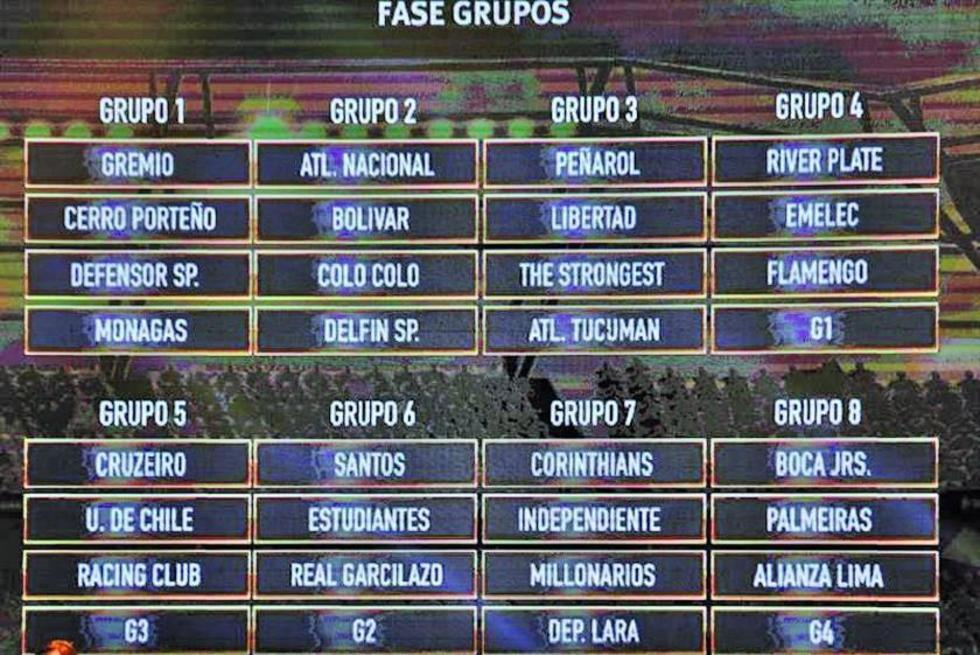 Así quedaron los emparejamientos de la Libertadores.