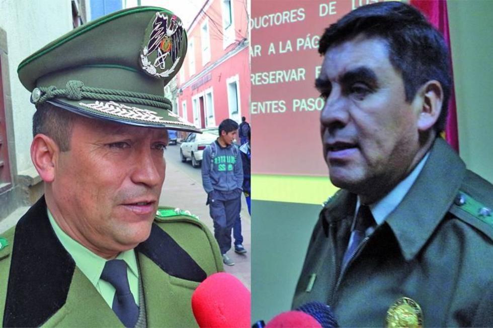 El coronel Vladimir Quiroz y su similar Juan Lizeca.