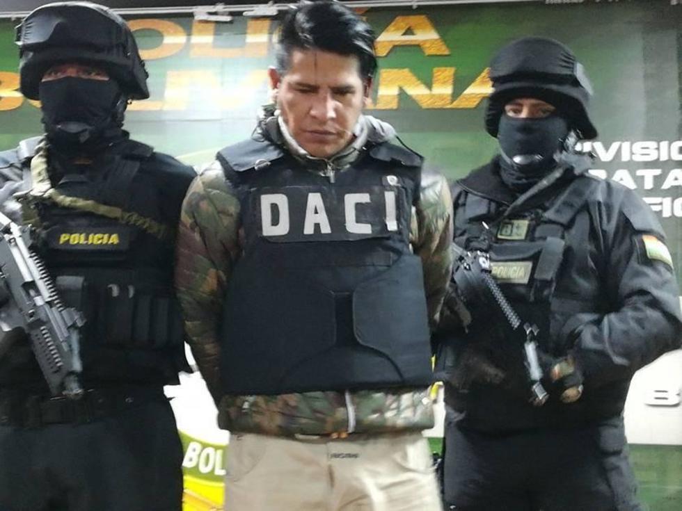 """El DACI capturó a Sergio Ariel Tapia Palacio, alias """"Maycol"""", el 28 de diciembre."""