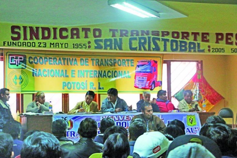 El ampliado nacional del transporte pesado se desarrolló ayer en la ciudad de Potosí.
