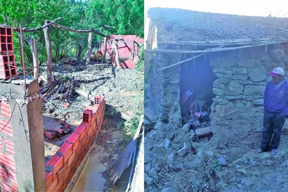 Comunarios pierden sus viviendas por riadas en Villazón