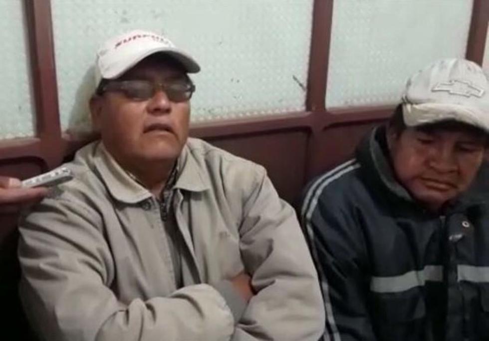 Dos de los cuatro choferes detenidos.