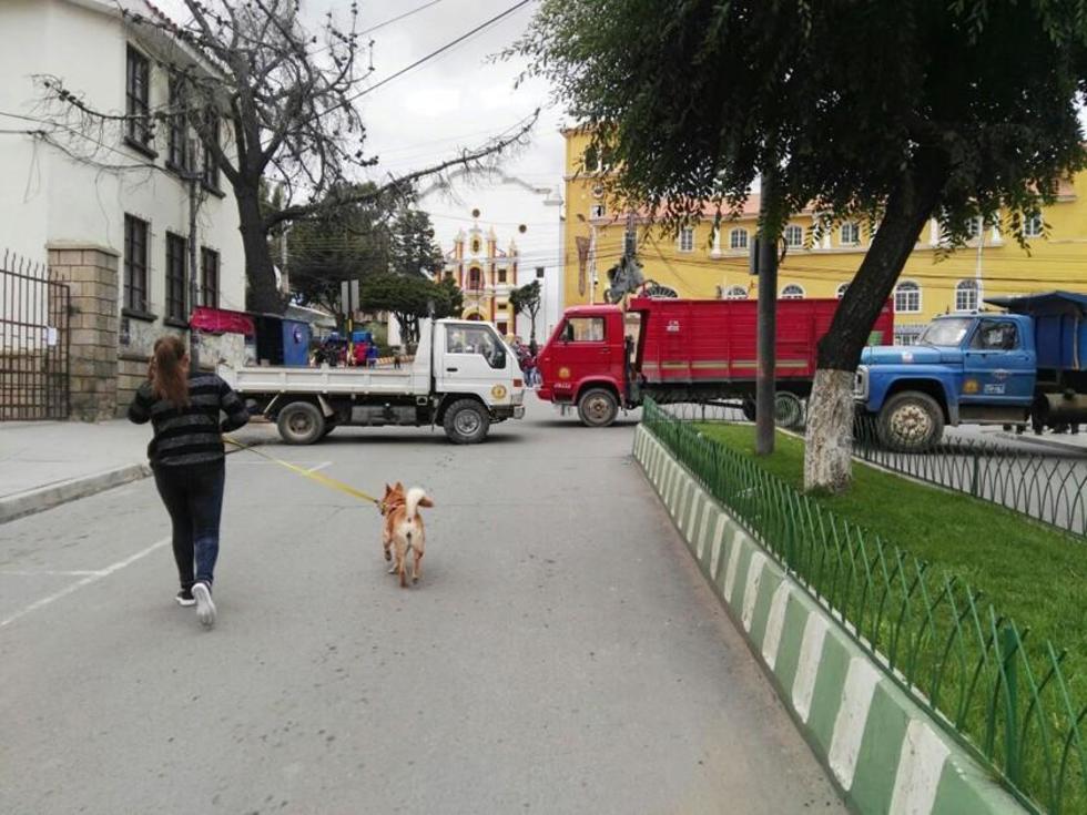 La participación de los transportistas dio contundencia a la movilización de ayer.