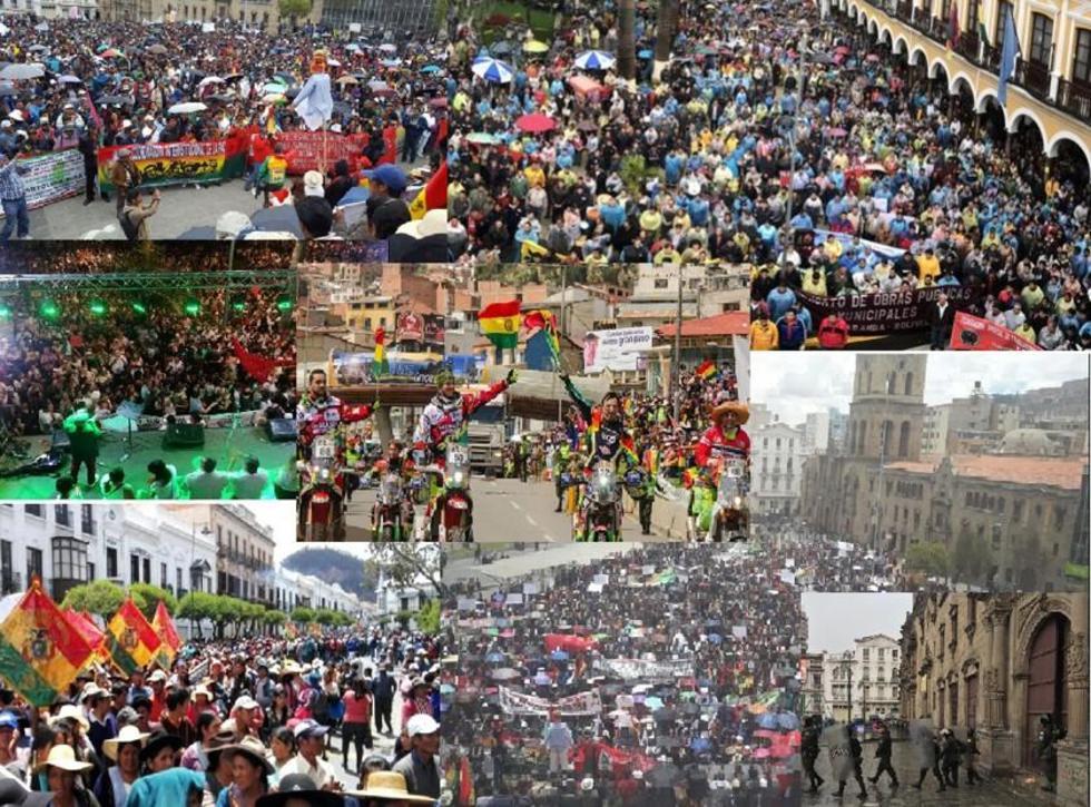 En varios puntos del país, se registraron paros, marchas, bloqueos en contra del Código del Sistema Penal.