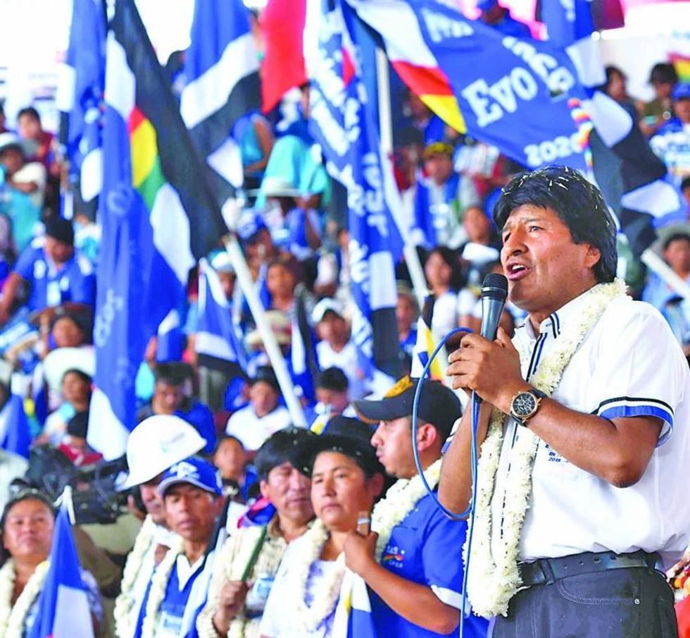 Las concentraciones oficialistas es en respaldo al actual presidente.