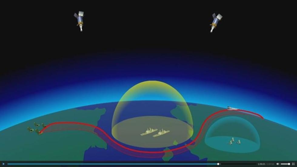 Una nueva ojiva hipersónica deslizante en maniobras para eludir las zonas de detección y destrucción mediante armas de d