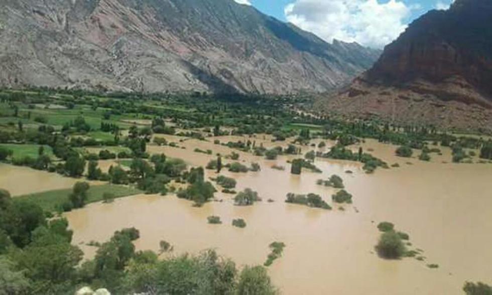 El desborde del Pilcomayo afectó a las tierras de cultivo.