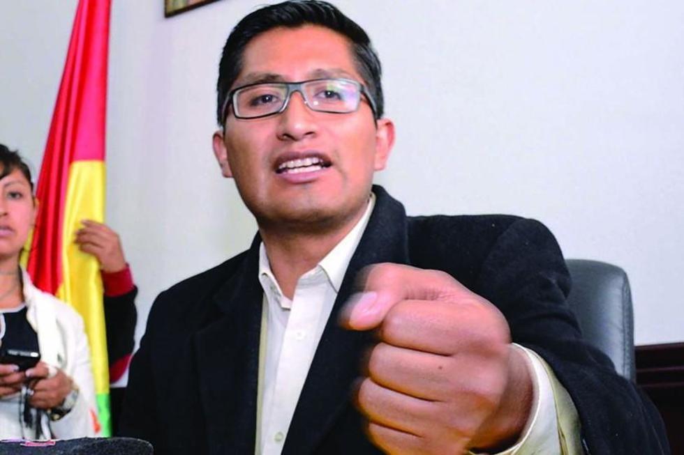 El fiscal departamental de La Paz, Edwin Blanco.