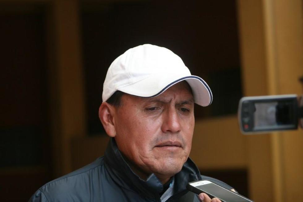 Milton Maygua conversa con la prensa potosina.