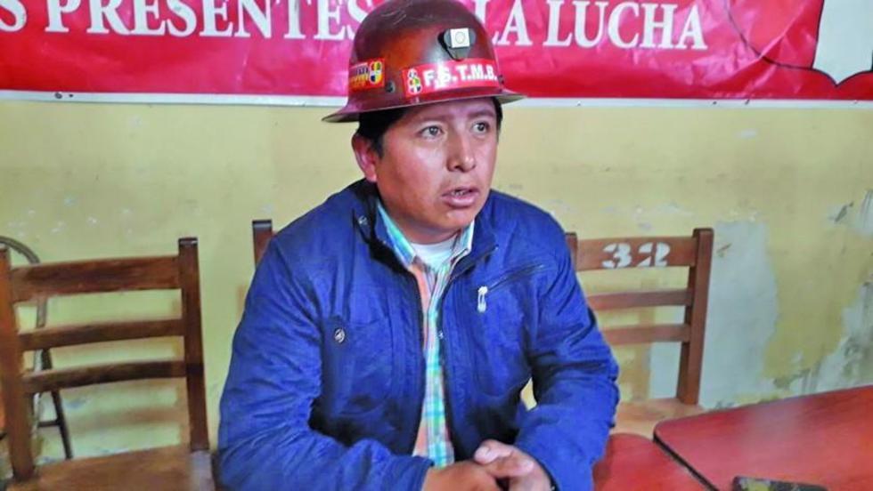 El secretario ejecutivo del ente matriz de los trabajadore, Juan Carlos Guarachi.