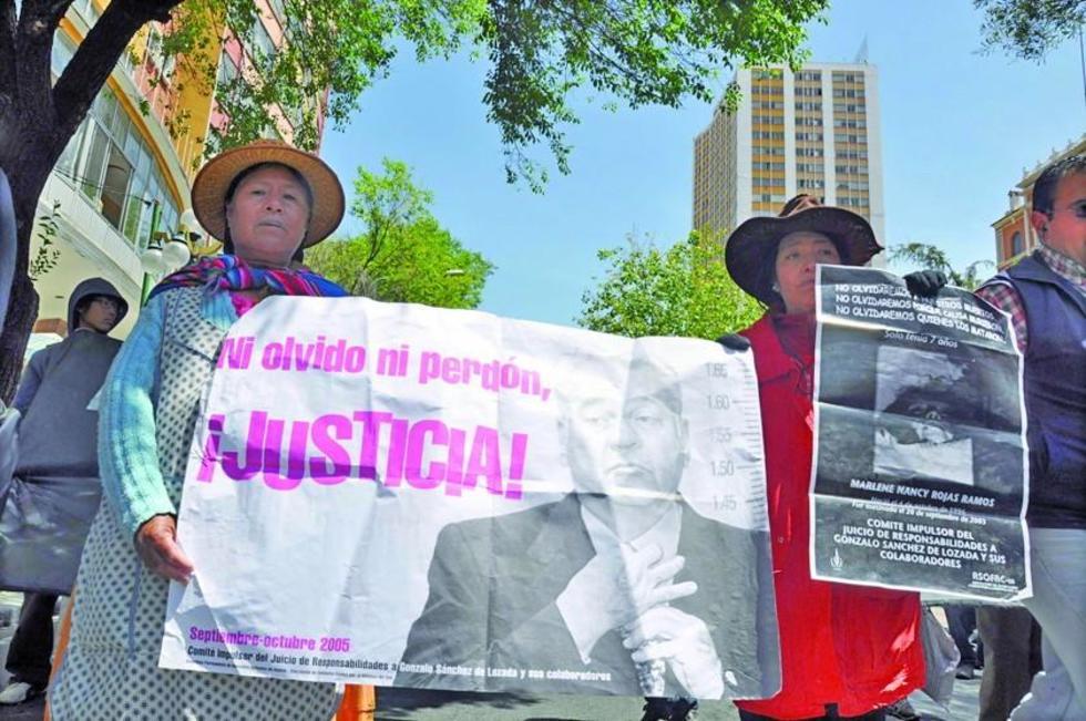 El juicio civil, en Estados Unidos, contra Gonzalo Sánchez de Lozada y Carlos Sánchez Berzaín todavía no concluyó.