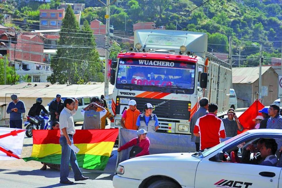 Chuquisaca radicaliza su protesta por Incahuasi