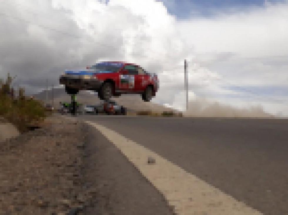 Una de las máquinas de carrera durante la competencia.