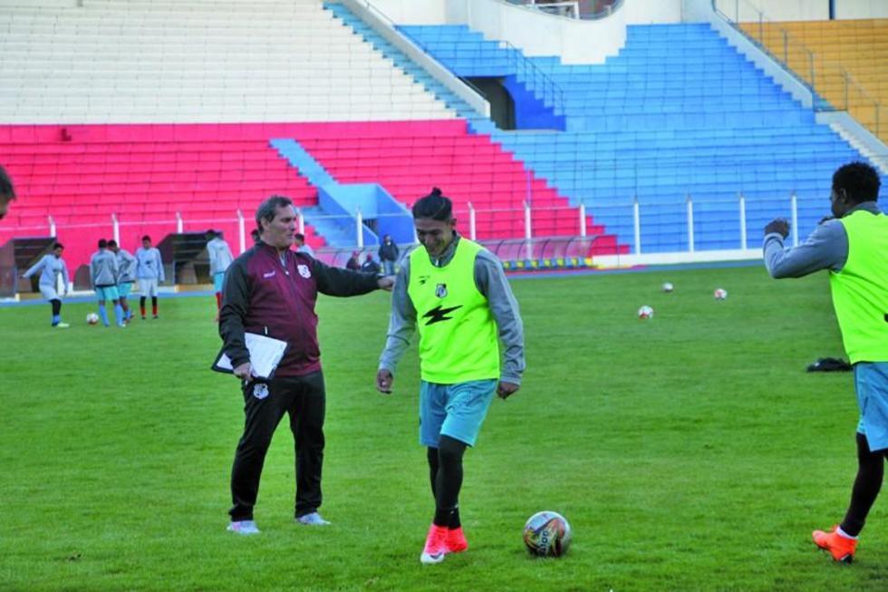 Edgardo Malvestiti junto a Miguel Quiroga.