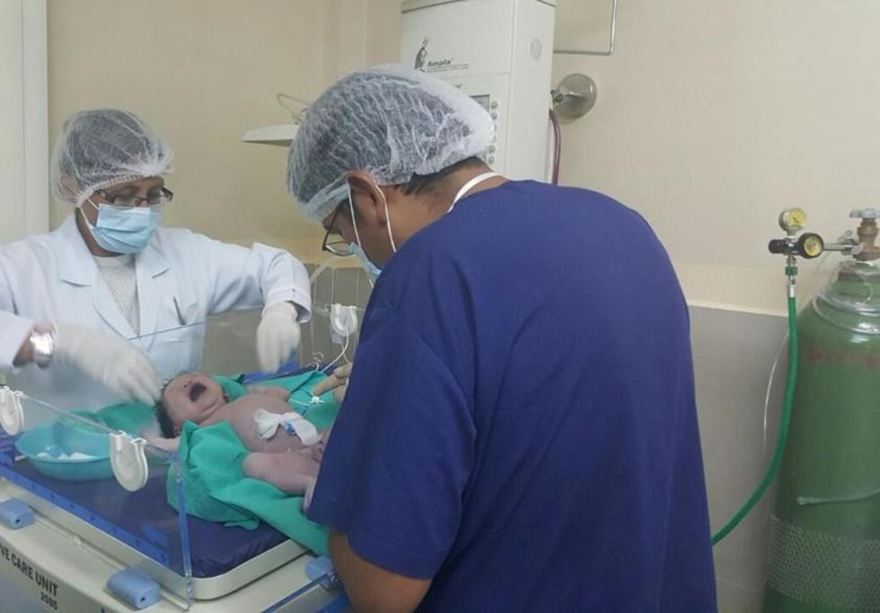Este centro hospitalario atiende partos todos los días.