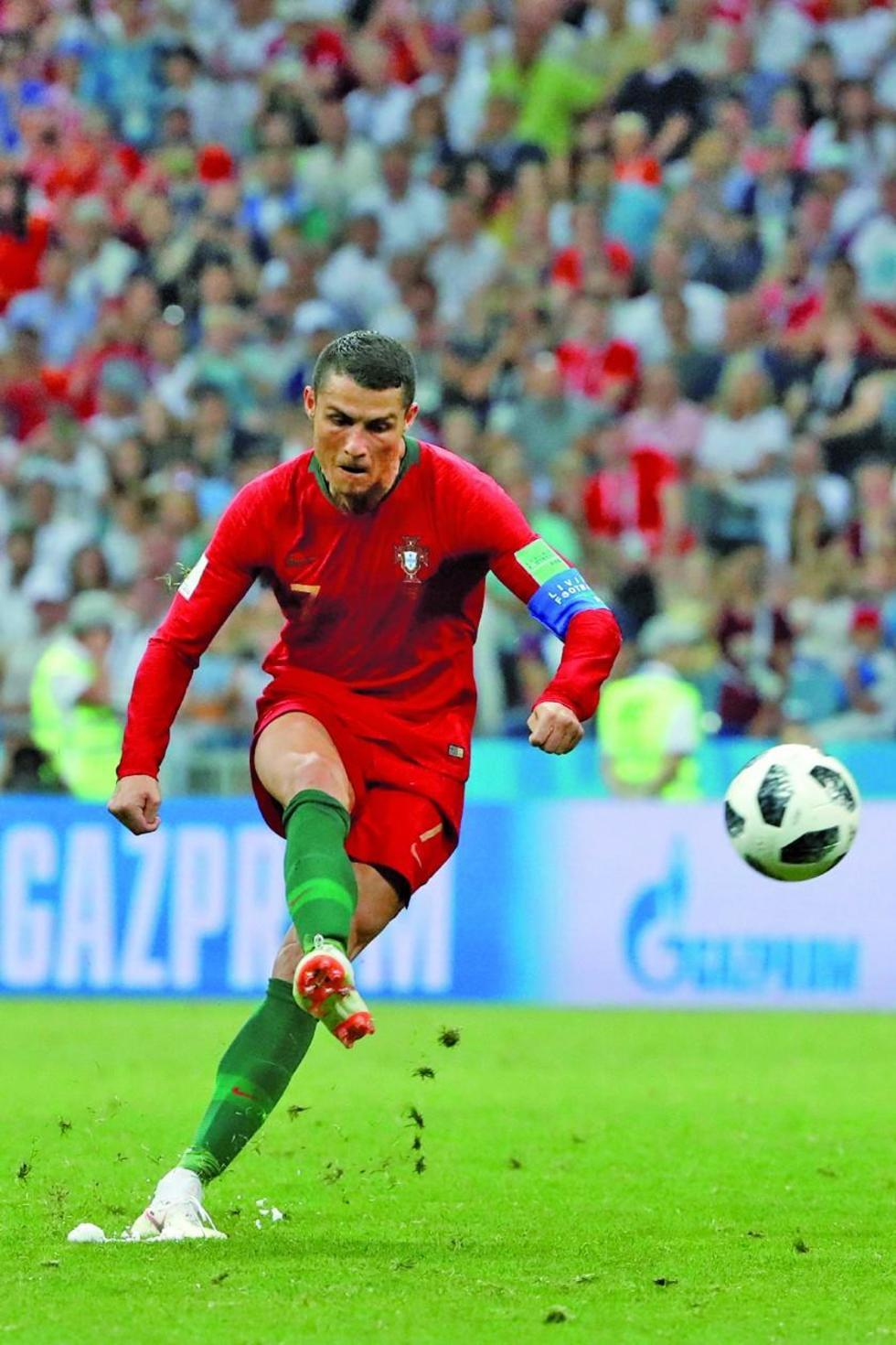 Ronaldo pone freno a los españoles en duelo del Mundial de Fútbol
