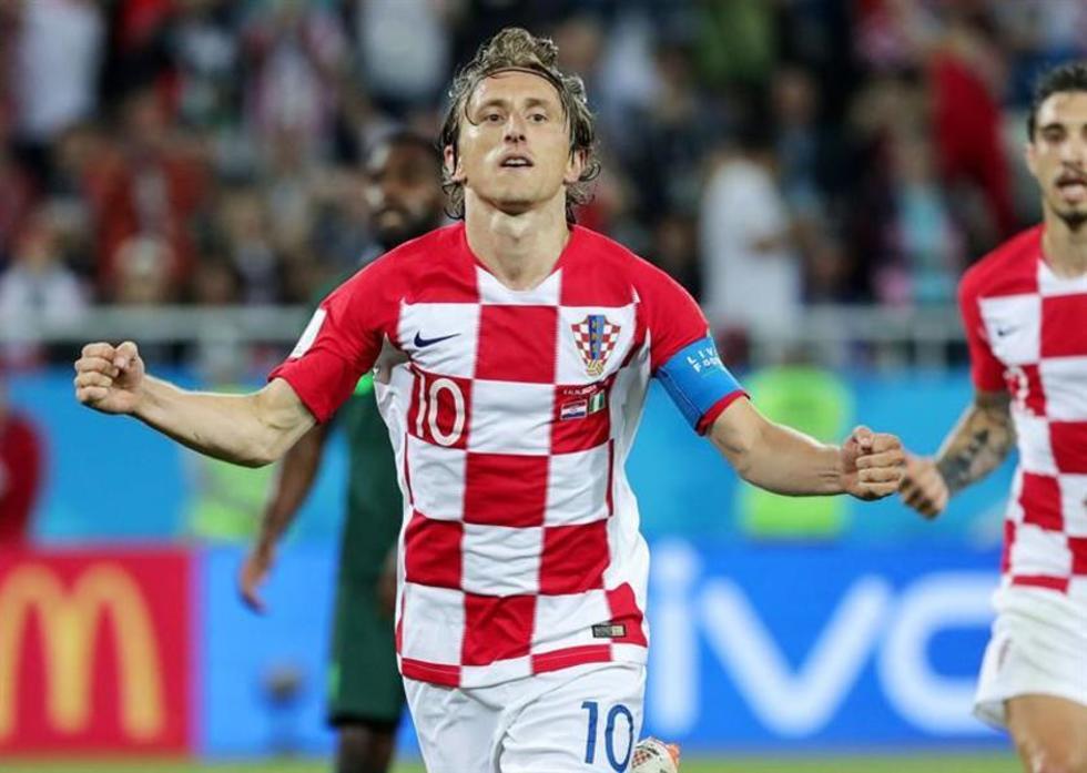 El futbolista Luka Modric anotó desde los doce pasos.
