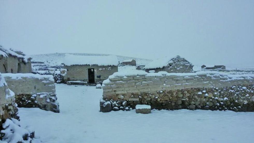 La nevada cubrió toda la región turística.