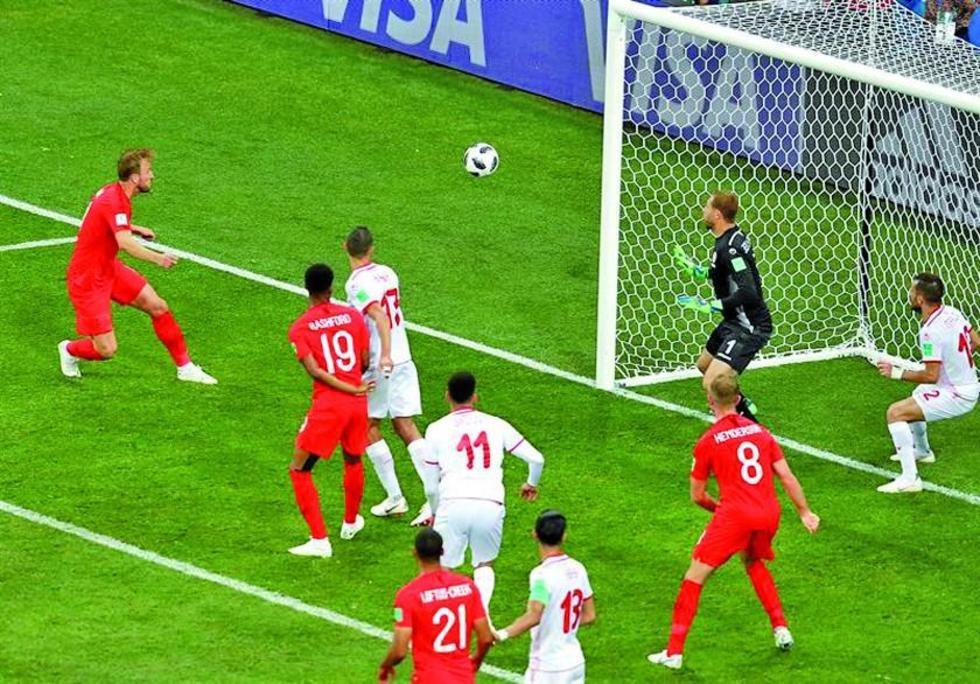 Kane anotó su segunda tanto para el conjunto inglés.