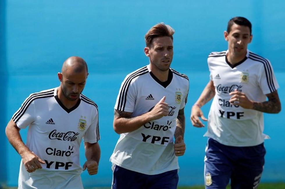 Argentina abrirá la ronda. En la foto los jugadores Ángel Di María, Lucas Biglia y Javier Mascherano.