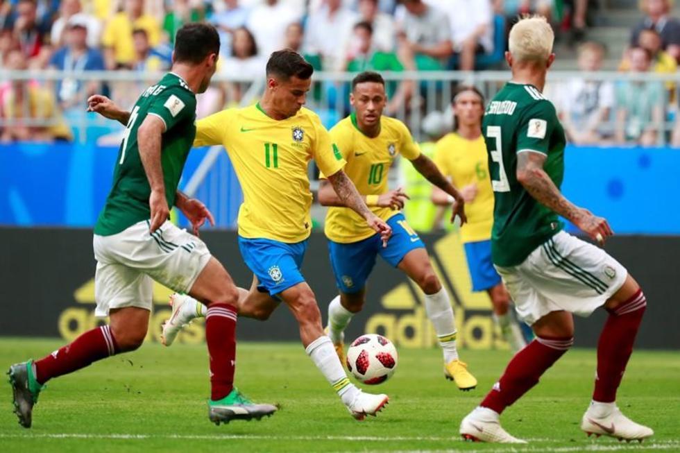 La selección de Brasil es uno de los representantes de Sudamérica.