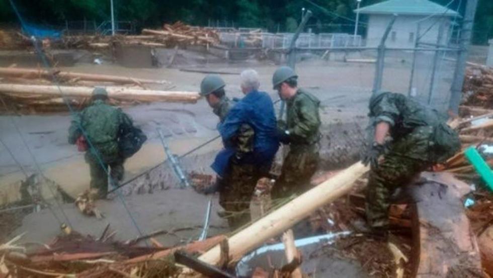 Fuertes lluvias caidas en Japón dejaron al menos 50 fallecidos
