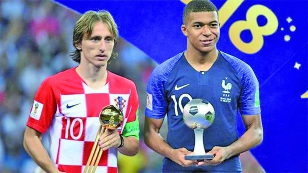 Luka Modric y Kylian Mbappé.
