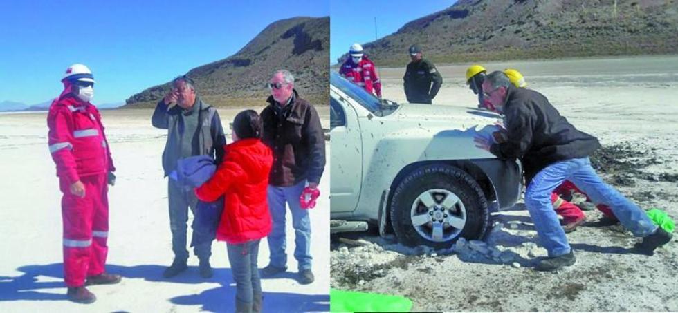Dos grupos de turistas son rescatados por las autoridades del Muncipio de Uyuni