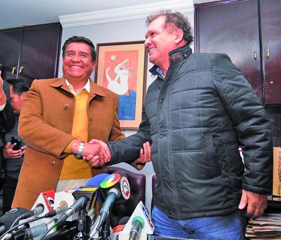 César Salinas junto a David Paniagua.