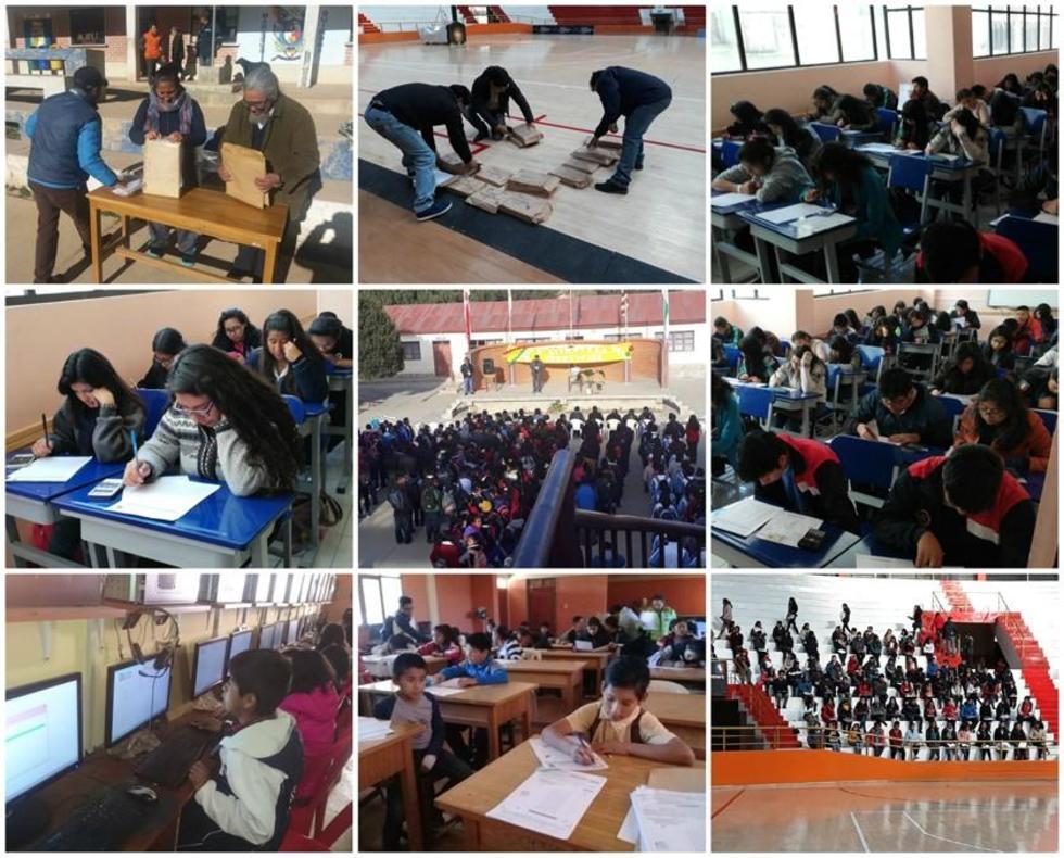 Las diferentes regiones convocaron a los alumnos para rendir las pruebas.