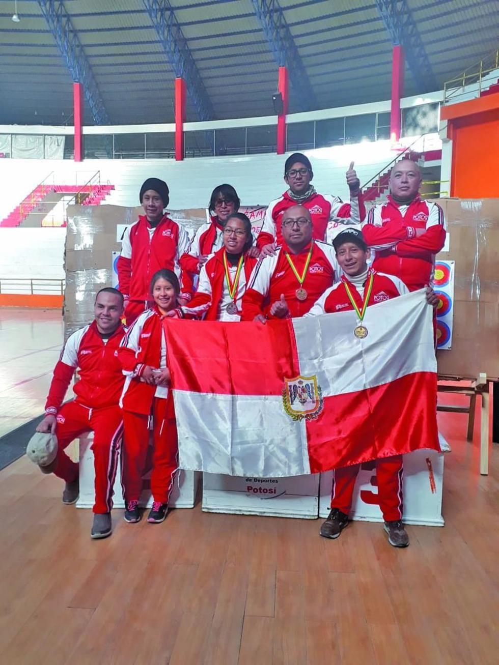 El equipo potosino se ubico en el quinto lugar con una plata y un bronce.