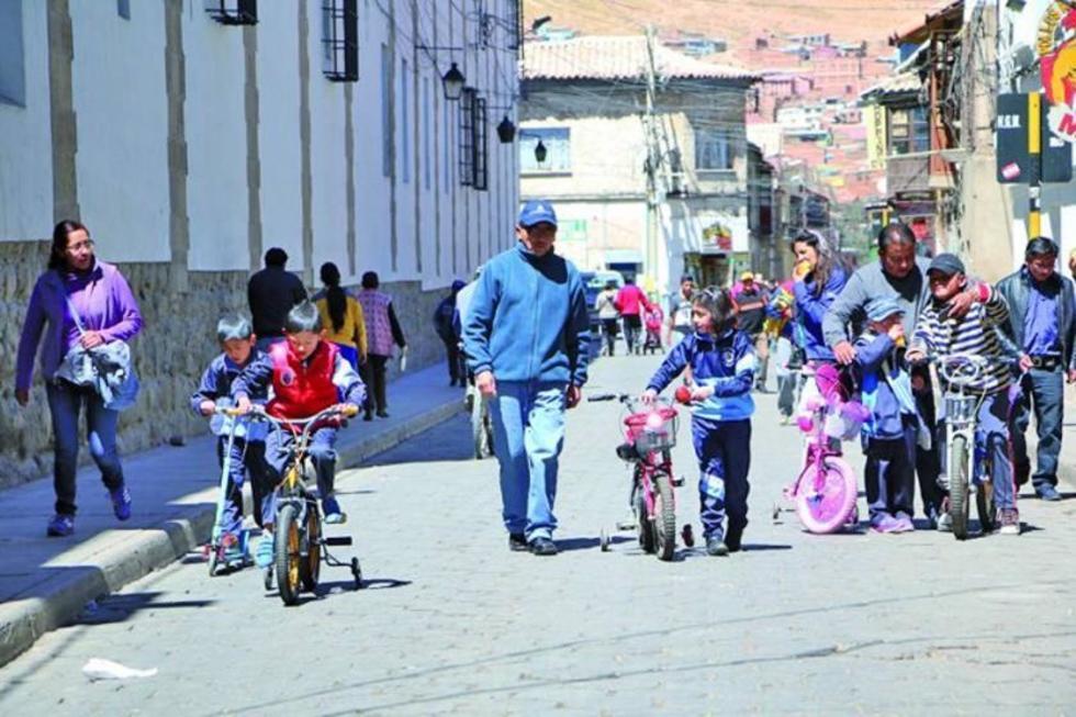 Potosí cumple el Día del Peatón con flexibilidad en las primeras horas