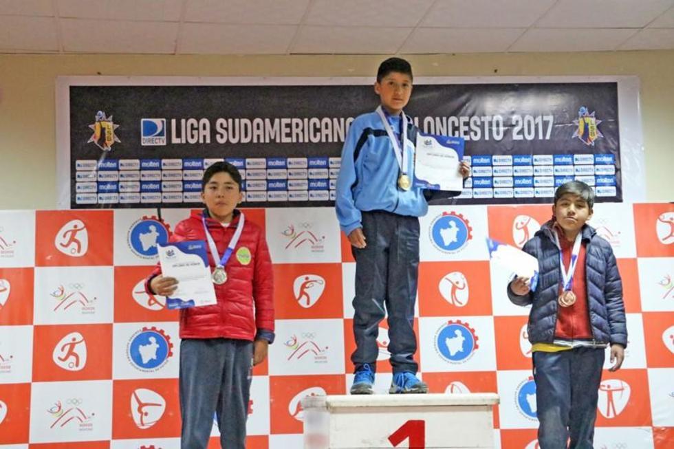 Los ganadores en ajedrez en varones.
