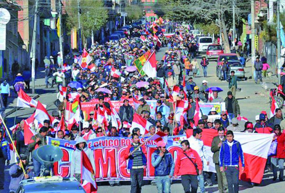 El movimiento cívico puso en vigencia a muchos dirigentes potosinos.