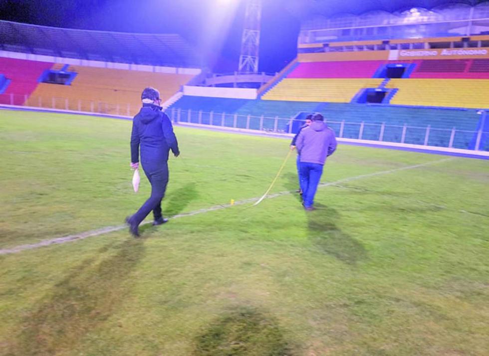 La Conmebol inspecciona el estadio de la Villa Imperial