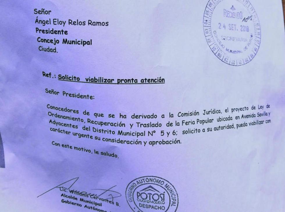 Este el documento exhibido por los feriafranquistas.