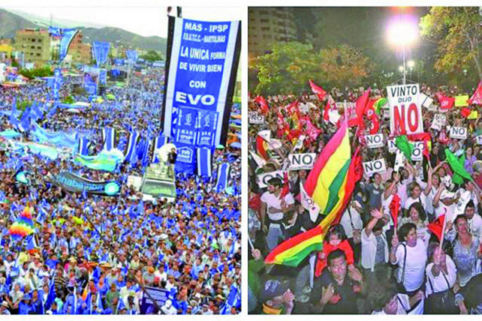 Los oficialistas y opositores se manifiestan en las calles del país