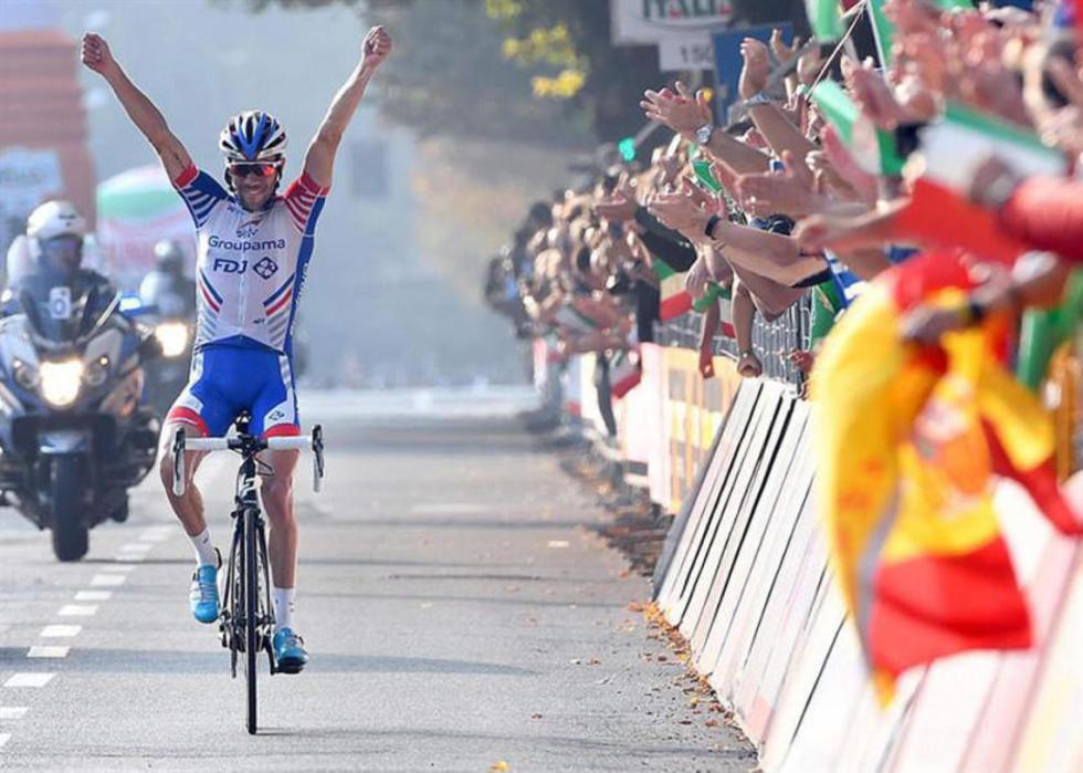 Pinot conquista por primera vez en su carrera la clásica Il Lombardía