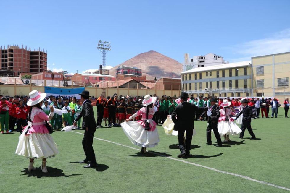 El Ballet Sentimiento Boliviano de Potosí estuvo presente en la inauguración.