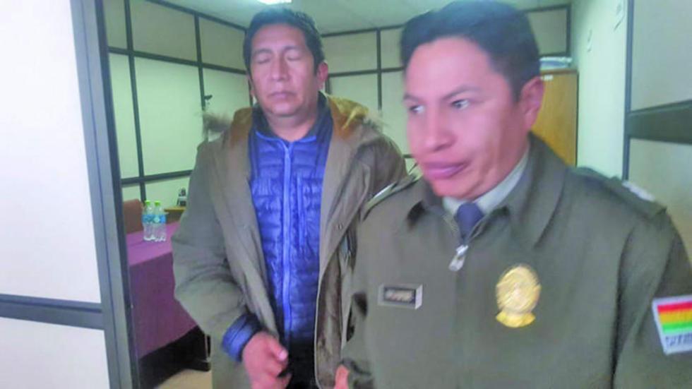 El alcalde fue llevado al penal de Cantumarca.